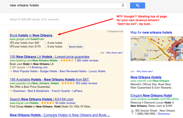 New Orleans Hotels - Google comparison