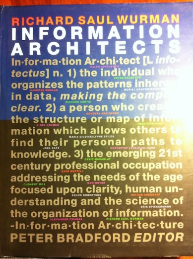Information Architects by Richard Saul Wurman - Book Cover
