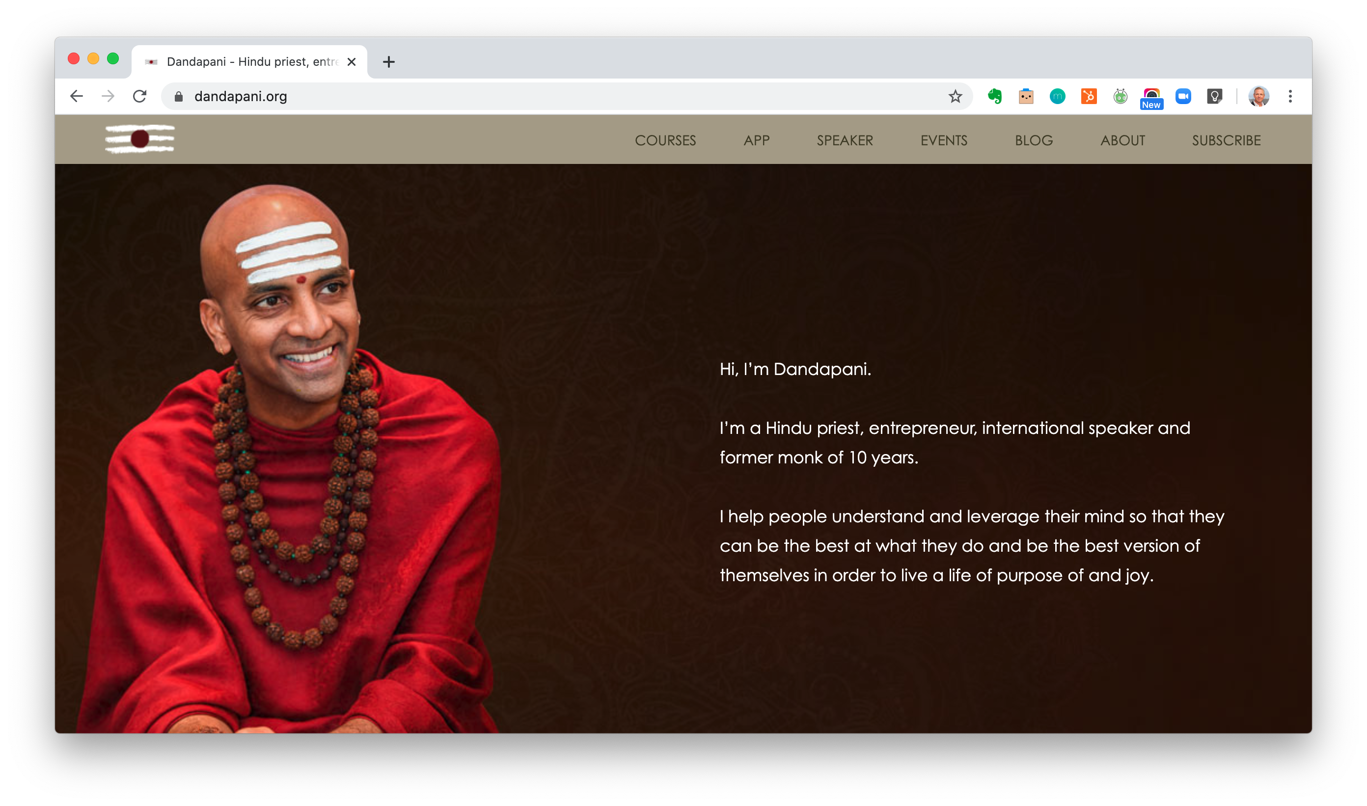 Dandepani Website Screen Shot